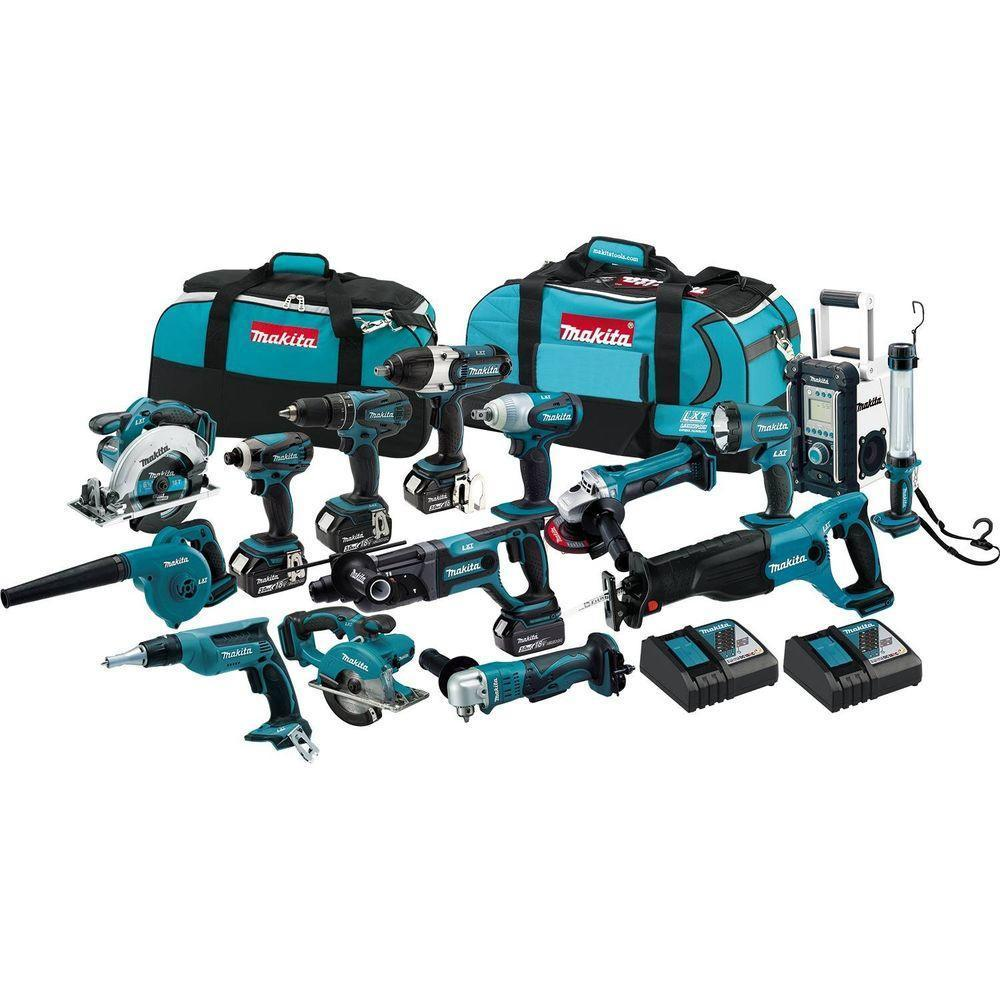Sales for buy 3 get 1 free Makita LXT1500-230 18V LXT Li-Ion Cordless 15-Pc. Combo Kit
