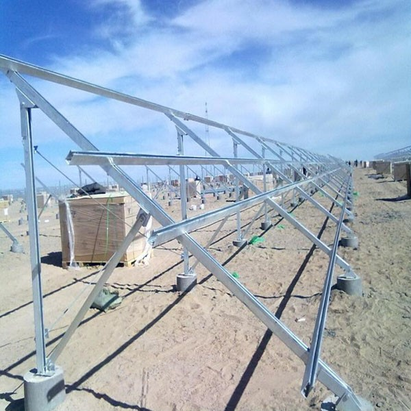 Customizable C Type Hot Dipped Steel Solar PV Ground Mounting System 2