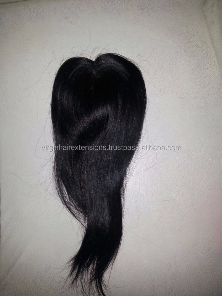 Soft & comfortable swiss lace silk base virgin indian remy hair top closure