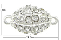 24.5x13mm Oval Zinc Alloy Magnetic Clasp