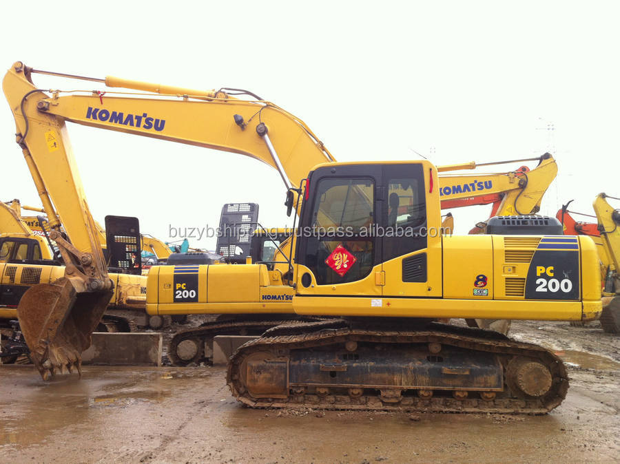 Used Komatsu construction excavator PC200-8 PC200-7 PC200 for sale!