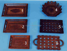 Wooden Carved Trays Extensively Used in Households