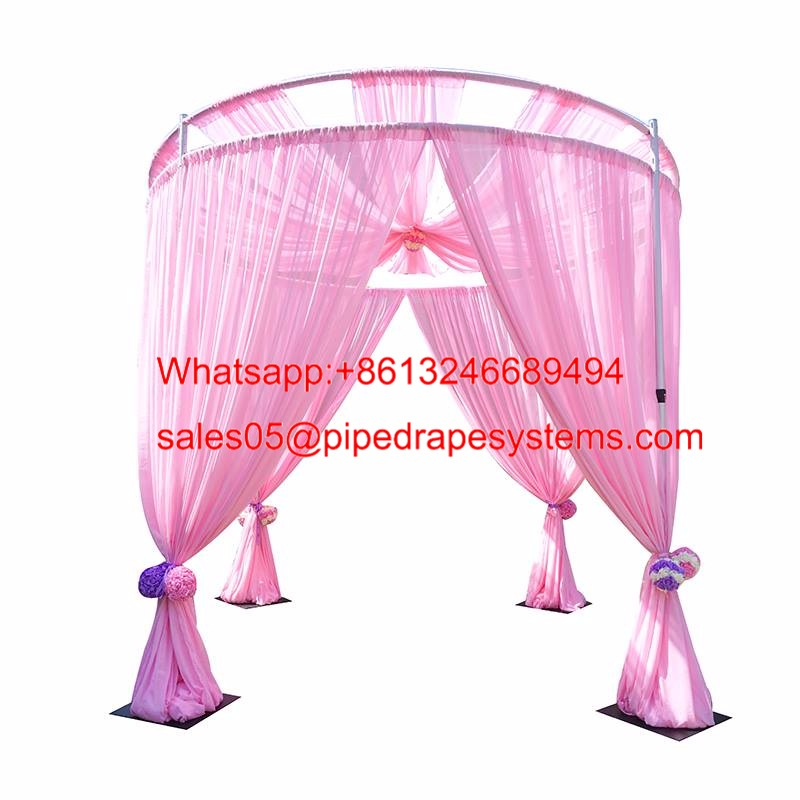 Aluminum trade show photo booth displays pipe and drape wedding tent ceiling drapes backdrop kits