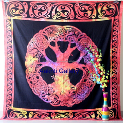 Celtic cycle of ages Tapestry Indian mandala Boho Hippie Wall hanging Beach Picnic