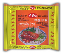 65G Pack RICE INSTANT NOODLES with Shrimp Crab Flavor