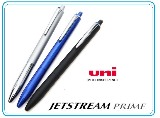 UNI Jetstream PRIME , smooth writing ballpoint pencil , easy to use knock type , Japan high quality