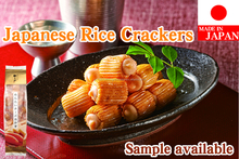 Japanese and Flavorful fish snack shrimp flavored rice crackers , sample available