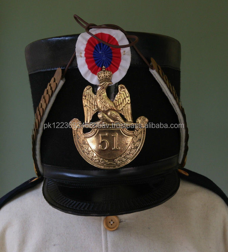 Napoleonic French 1812 Shako hat plate chin scales and bosses