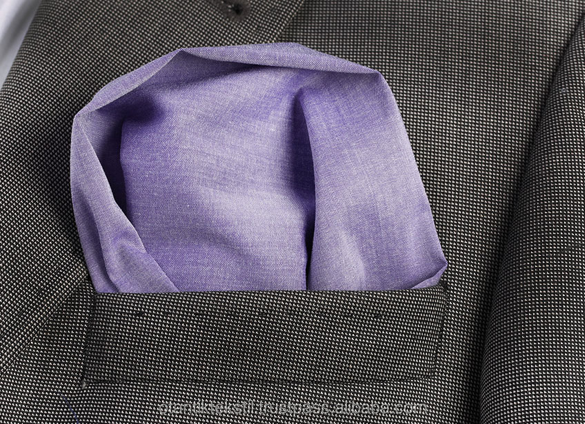 Soft Purple Pocket Square, Production, Manufacturing, custom, Hankercheif,