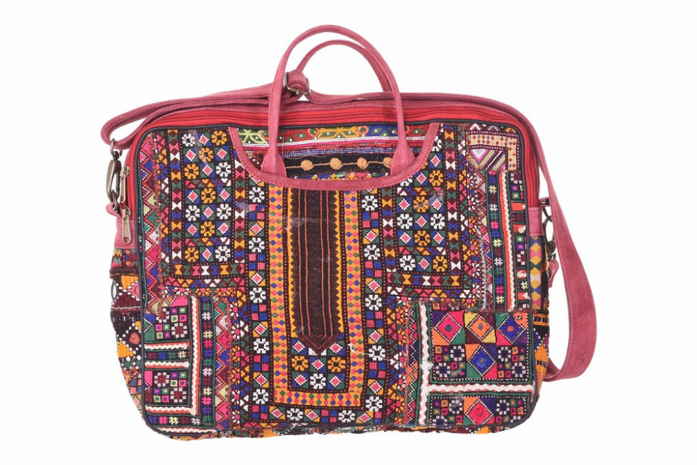Ethnic Vintage Handbags Decorative Embroidered Sling Bag Indian Banjara Tote Bags Traditional Clutch
