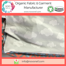 100% Organic Cotton Interlock Fabric Gots digital custom printed for Baby Kids wear natural knitwear knitted gots fabric