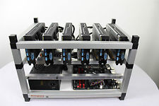MC-ROAD-RUNNER-SK1 Mining rig 6 X RX 480 8GB GPU Ethereum Zcash Monero GPU MINER