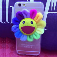 IMPRUE New Ultra Slim Clear Hard case with flower for iphone 6