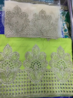 Raw Silk Embroidered George
