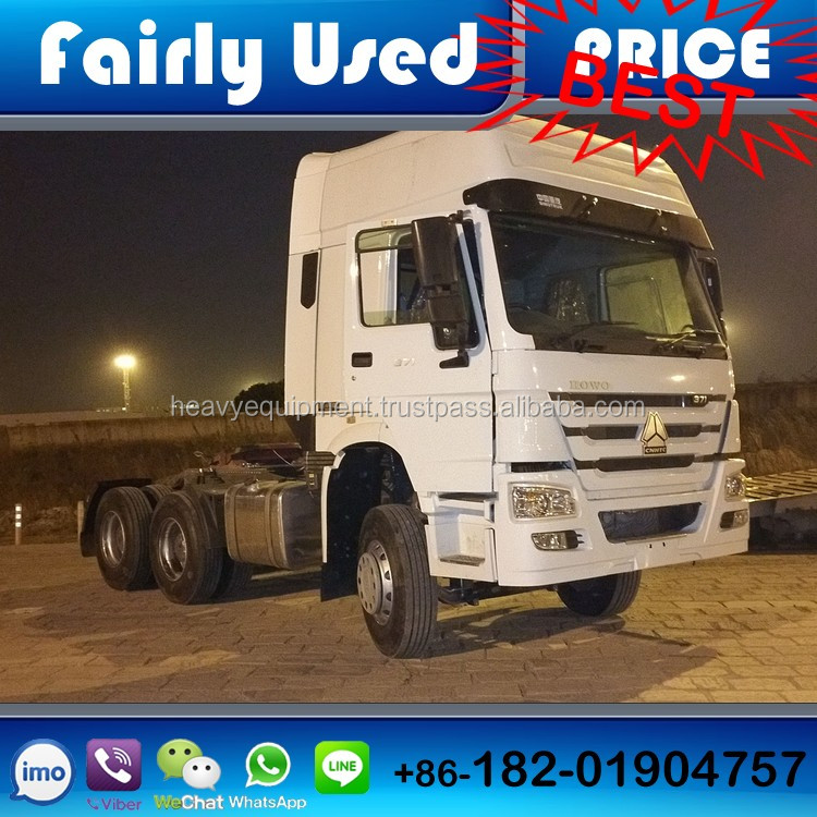 Second hand LHD and RHD 8x4/6x4/4x2 FAW/Dongfeng/Shacman/North benz/Foton/ Sinotruk Howo tractor truck head, tractor truck