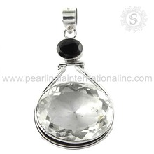 spectacular garnet, crystal silver pendant gemstone silver jewelry indian silver 925 jewelry manufacturer