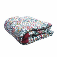 Baby bedding quilt Indian Hand Block Printed 100% cotton Jungle King Red Baby quilt