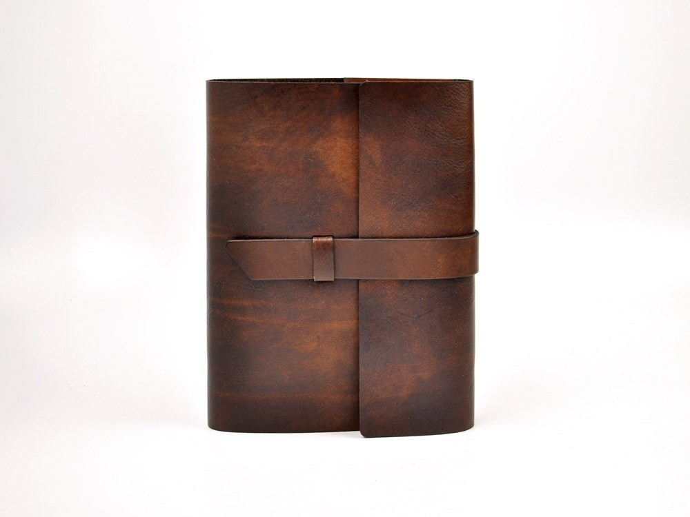 Customize genuine leather book cover cow leather journal cover with wood-free paper
