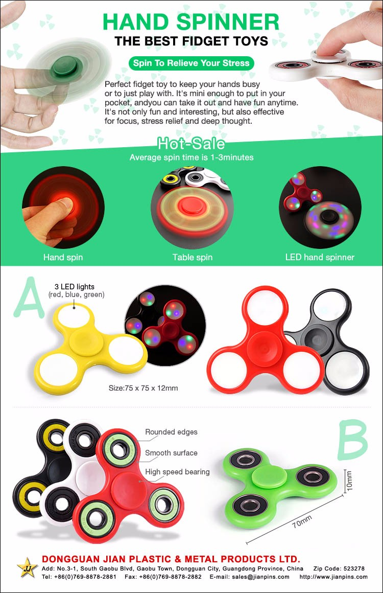Factory Direct Custom Toys Hobbies Fidget Toys, Fidget Spinner