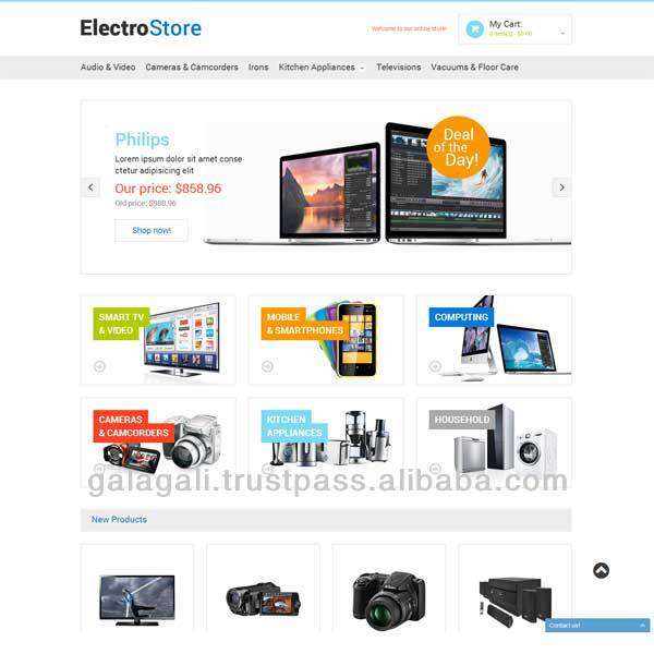 Ecommerce Website Design for Online electronic store