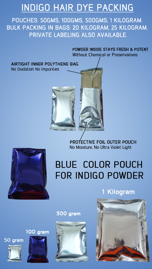Indigo Leaf Powder For Hair Coloring & Nourishing