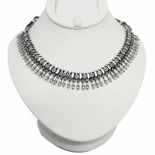Ethnic Silver Tone Tribal Vintage Jaipuri Choker Necklace Indian Party Wear Fashion Jewelry Gift ANS1963