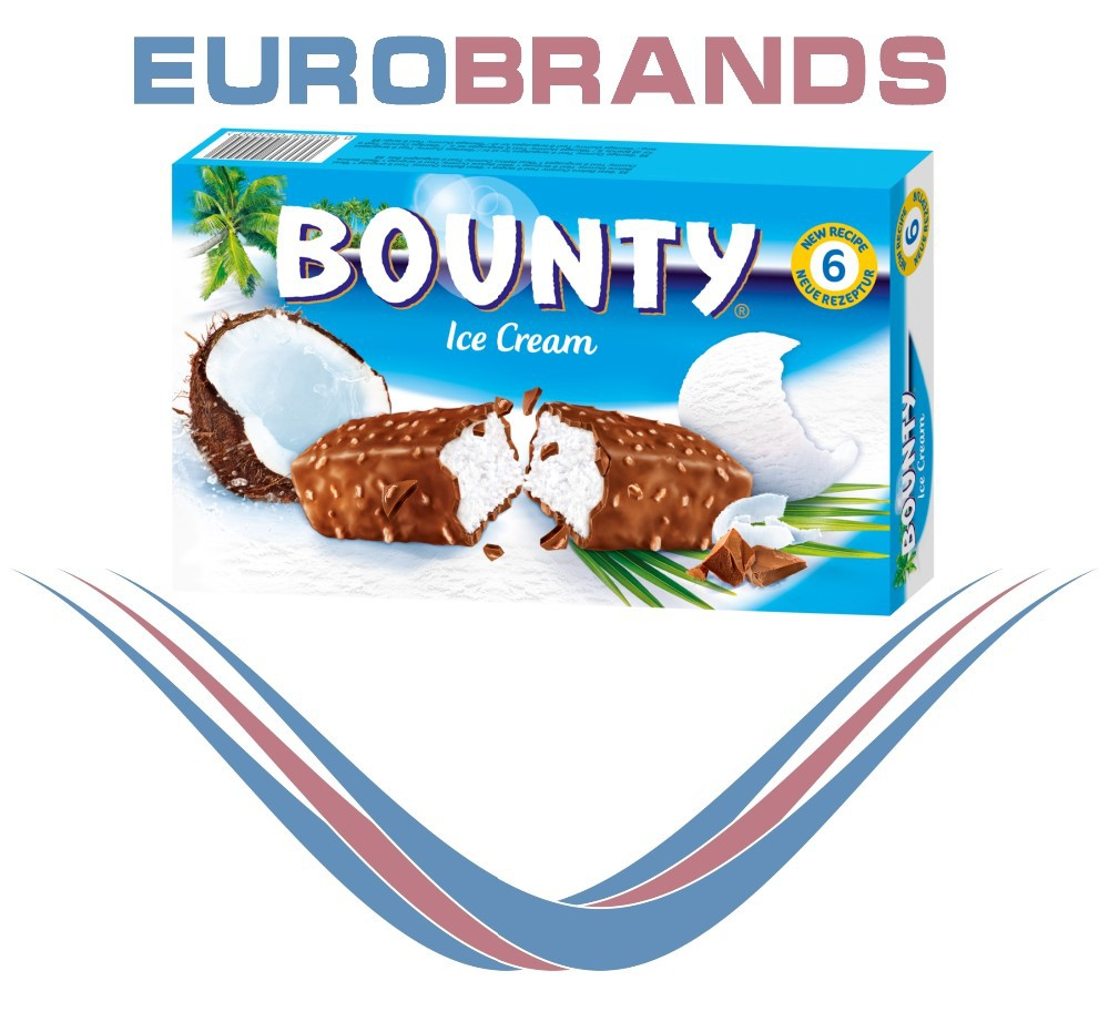 Bounty 6x50ml Ice Cream