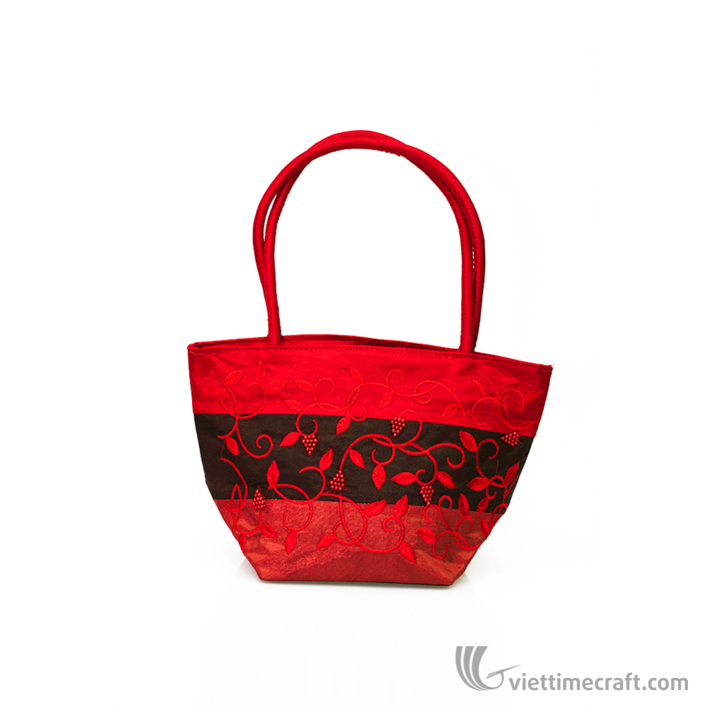 Colorful and elegant embroidery handbag, 100% handmade in Vietnam,