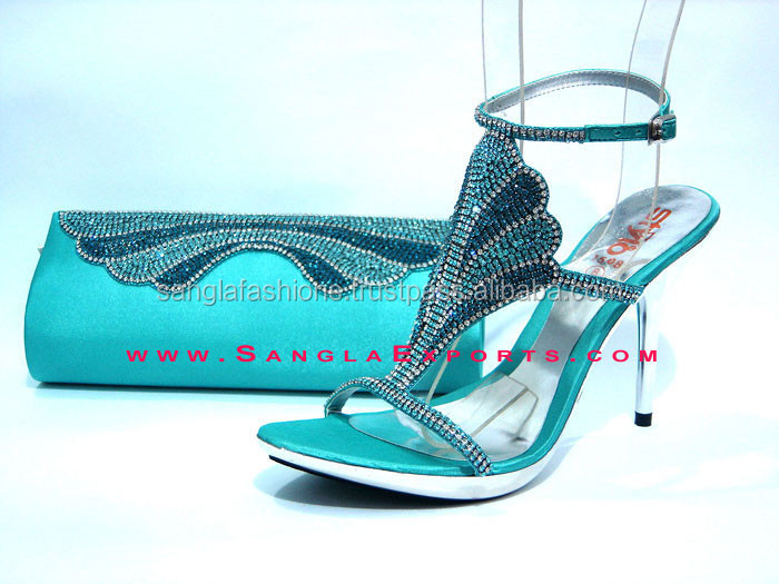 ladies shoes matching clutches wholesale, pakistani bridal partywear shoes, rhinestone sandals matching handbags,