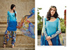 Patiyala style suit-Designer Punjabi suit material - Printed cotton dress material - Wholesale dress material