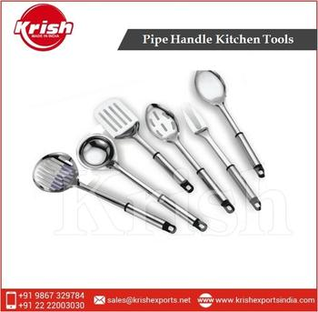 Steel Pipe Handle Kitchen Tools - Stainless Steel Utensils