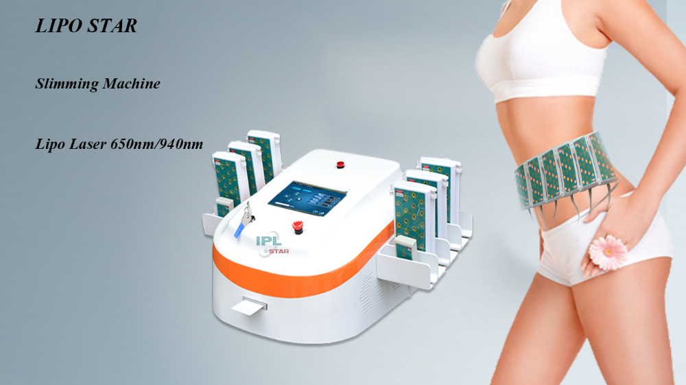 FDA Approved Japan Por 940 650 Dual Waves Lipo Laser Fat Removal Loss Weight Machine For Sale