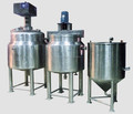 Stainless steel liquid soap mixing machine