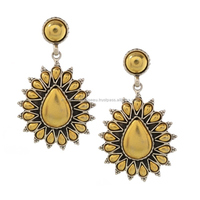 Paramount Jeweller Victorian Style Antique Gold Jhumka Earrings Oxidized Dangle Earring
