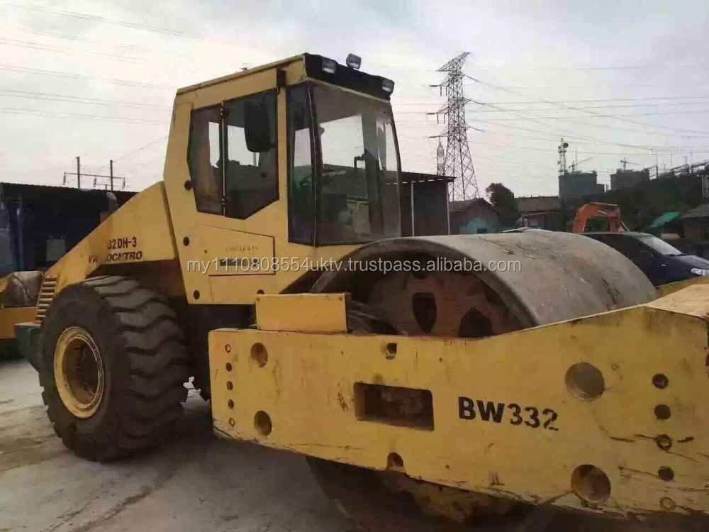 Used Road Roller Bomag BW332DH/ Boamg compactor with good condition