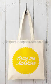 Customized cotton canvas print tote bag