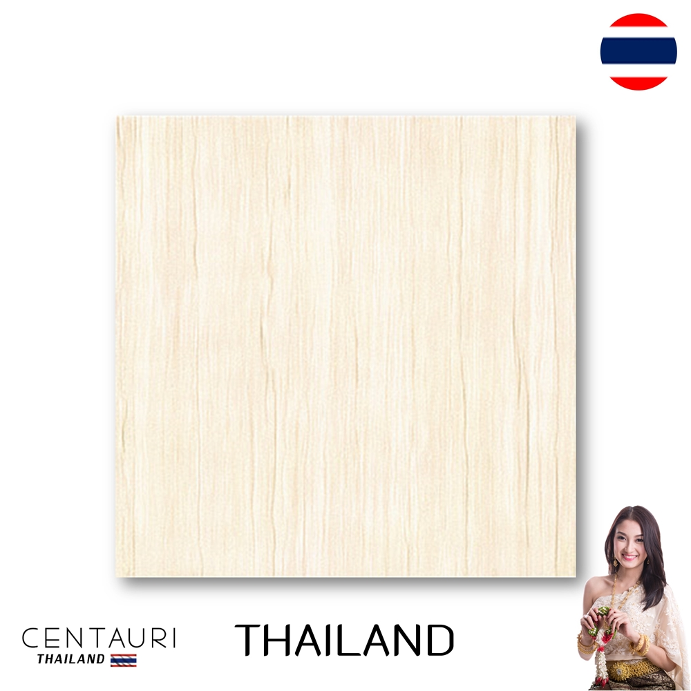 Size 600x600 mm Cream Wood Pattern Polished Granito Floor Tile and Great Quality Interior Floor Tile from Thai Supplier