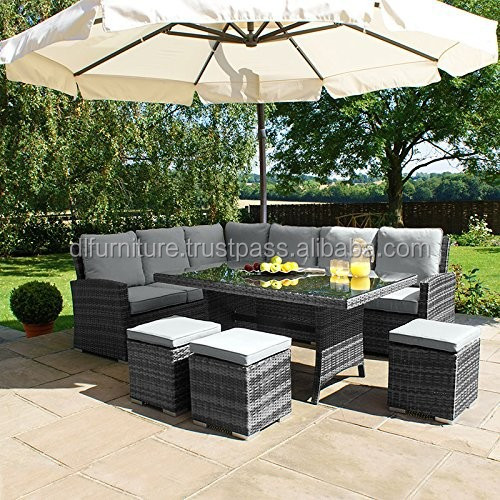 2015 Hot Sale Rattan wicker outdoor furniture sofa set furniture / meuble de jardin