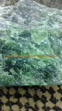 Green Nephrite jade rough