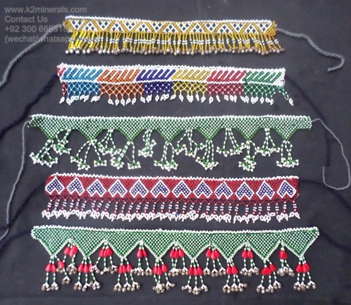 Tribal fashion afghan antique jewelry beaded headpiece gr