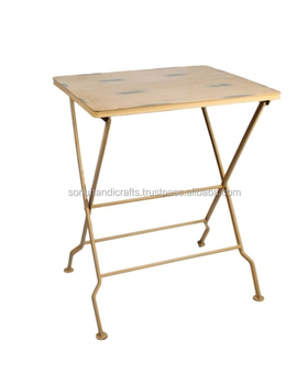 INDUSTRIAL IRON FOLDING TABLE