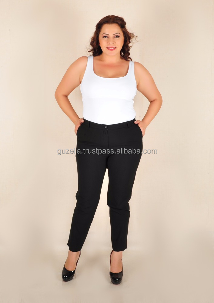 2017 trending products Wholesale Plus size crop and skinny pants from Turkey