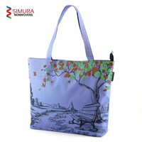 Tote Bag with Customised Multi Colour Screen Print