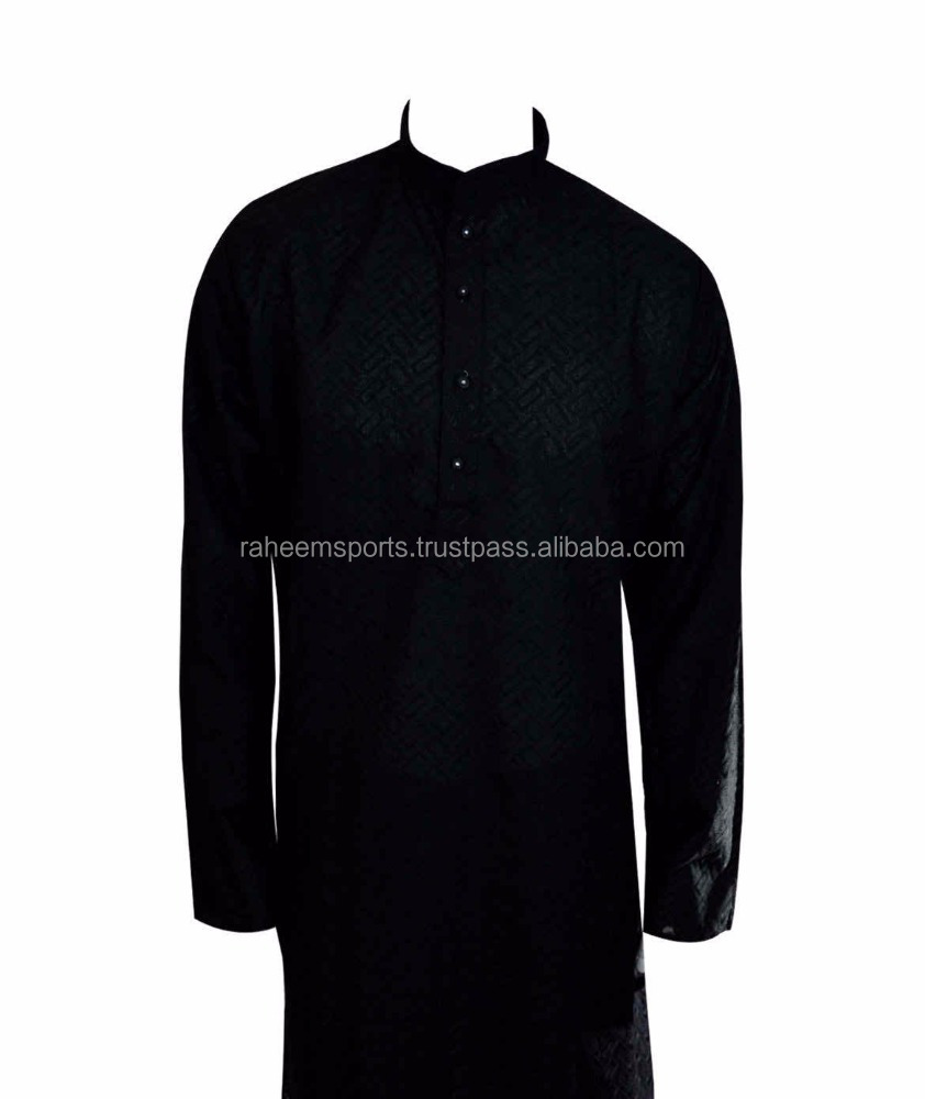 Men's kurta shalwar men's salwar kameez cotton black