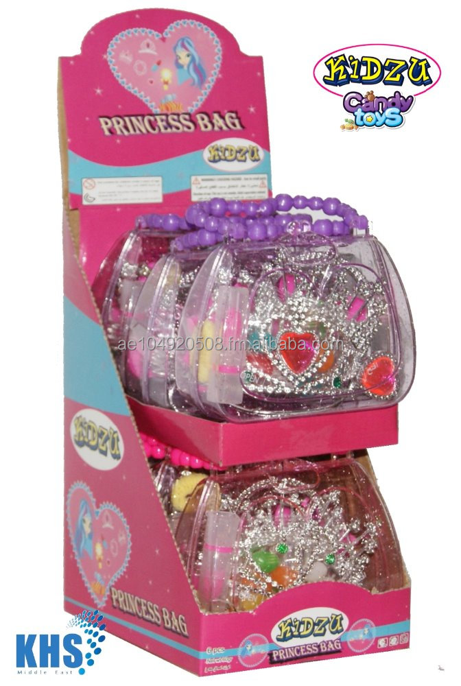 Fancy Princess Bag with beauty set accessories and all natural jelly beans candy from Kidzu Candy Toys