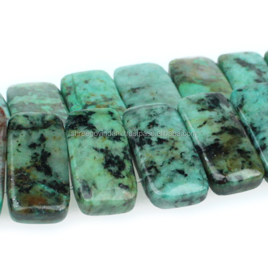 African Turquoise 10x20mm Double Drill , Semi-Precious Gemstones,Loose Beads