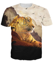2016 New Fresh Lion Design Custom Sublimation T shirt/All Over Printed Dri Fit Sublimation T-Shirt/Slim Fit T-Shirt/AT BERG