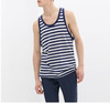 Men's tank top, 100% cotton, new design for summer