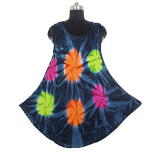 Indian Tie Dye Cotton Dress Women DRT002 Tunic Manufacturer From India