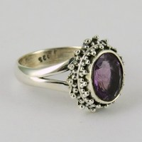 Fantastic !! Purple Amethyst 925 Sterling Silver Ring, Rings From India, Boho Silver Jewelry